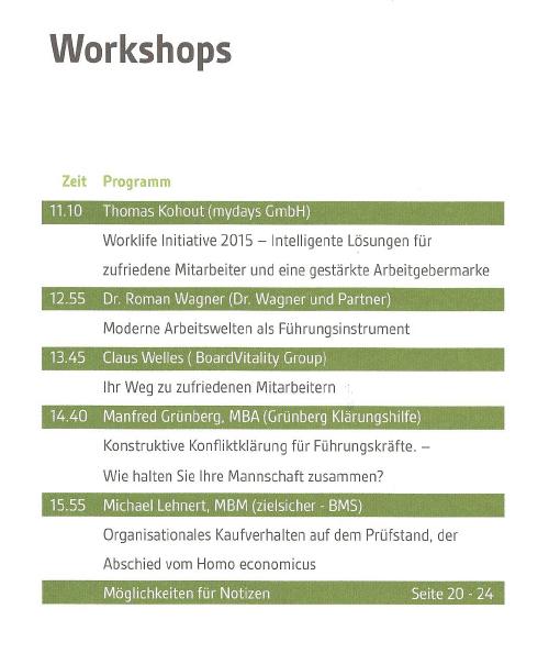 Agenda Workshop dev-com Roman Wagner